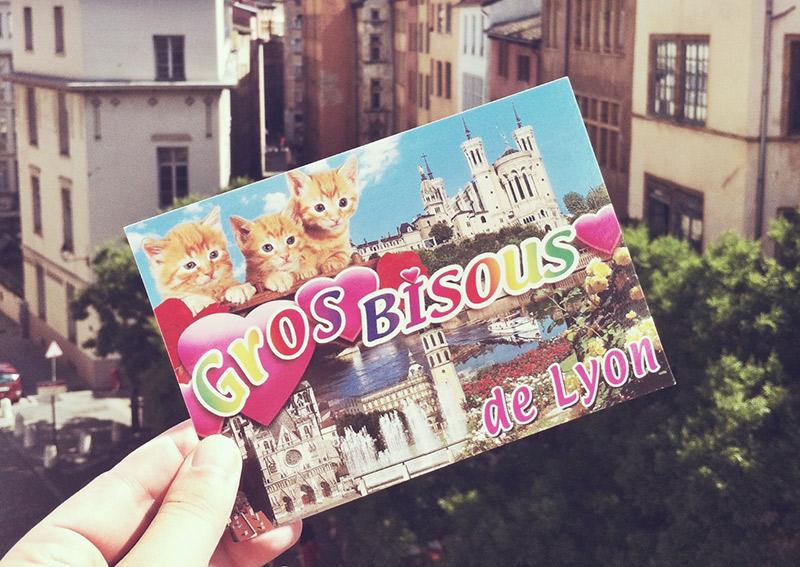 Lyon Souvenirs Postkarte