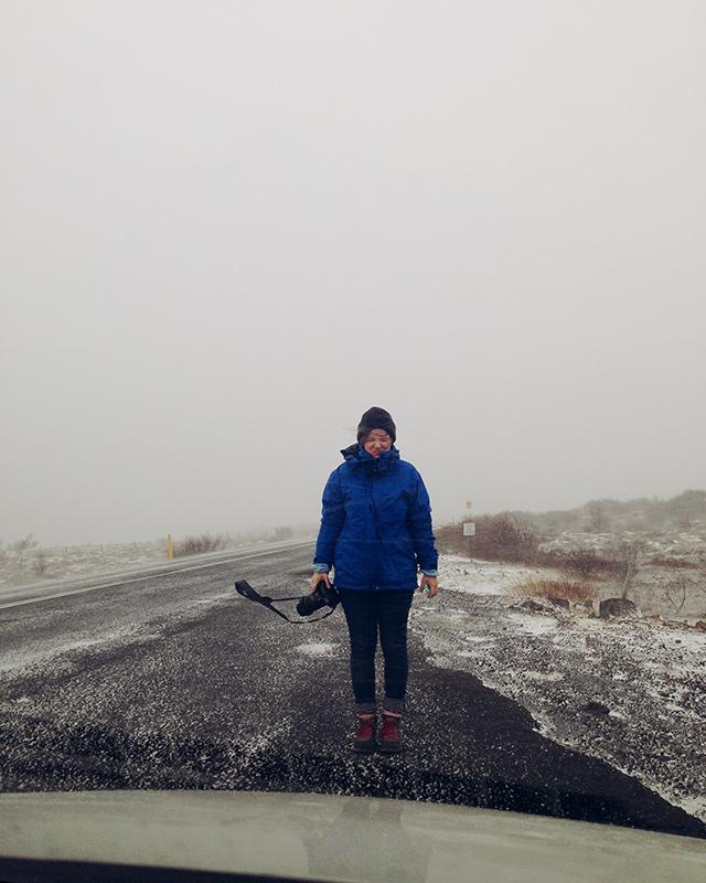 nina im schnee