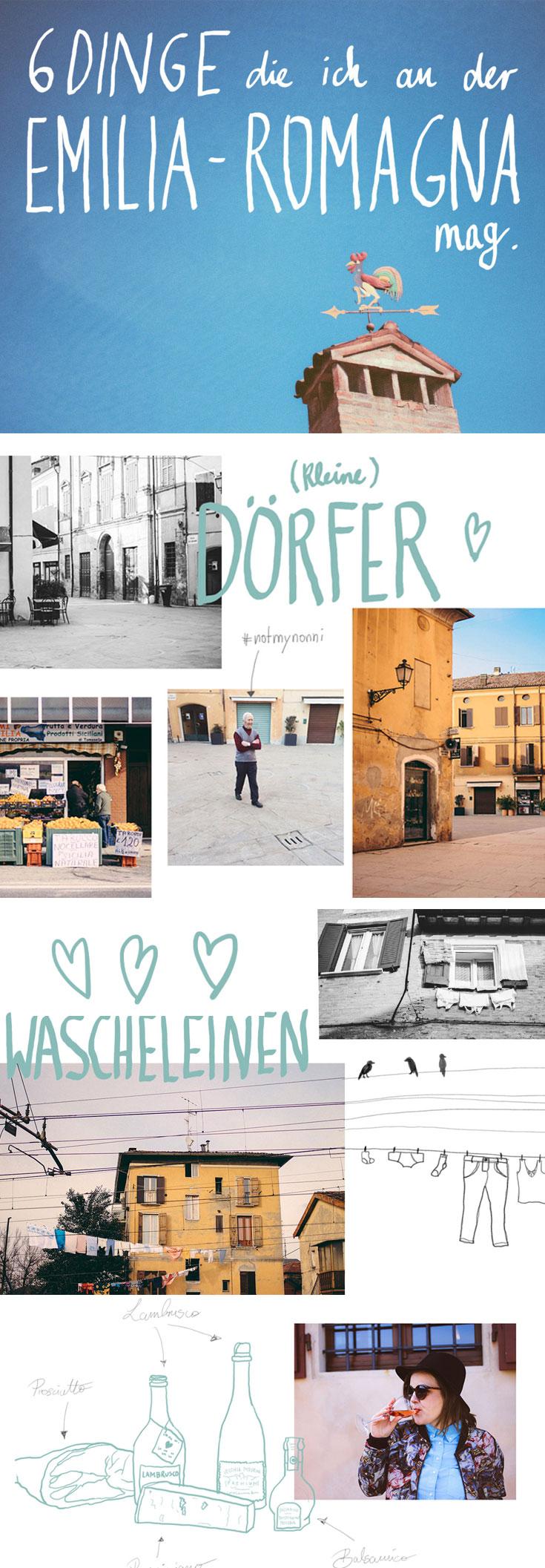 Die Region Emilia-Romagna ist berühmt für Parmiggiano, Prosciutto, Lambrusco - aber auch für schnelle Autos und hübsche kleine Dörfer.