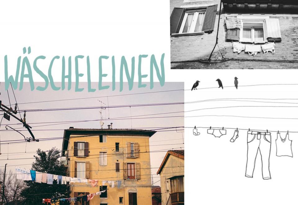 Wäscheleinen in der Emilia-Romagna