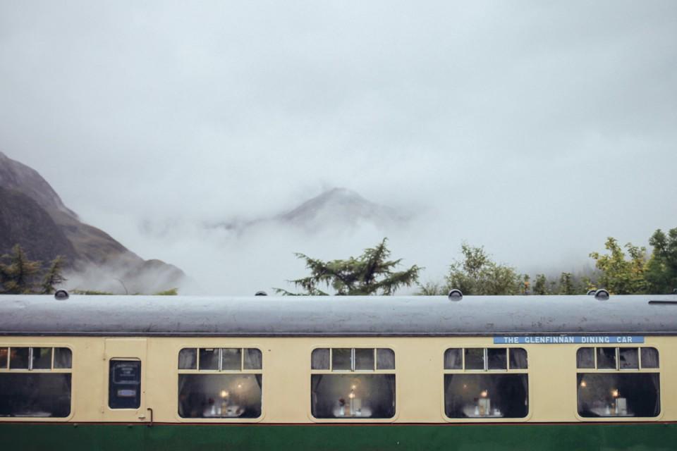 Schottland Glenfinnan Station Jacobite Steam Train Smaracuja
