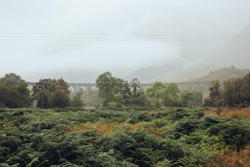 Schottland Glenfinnan Viaduct Harry Potter Zug