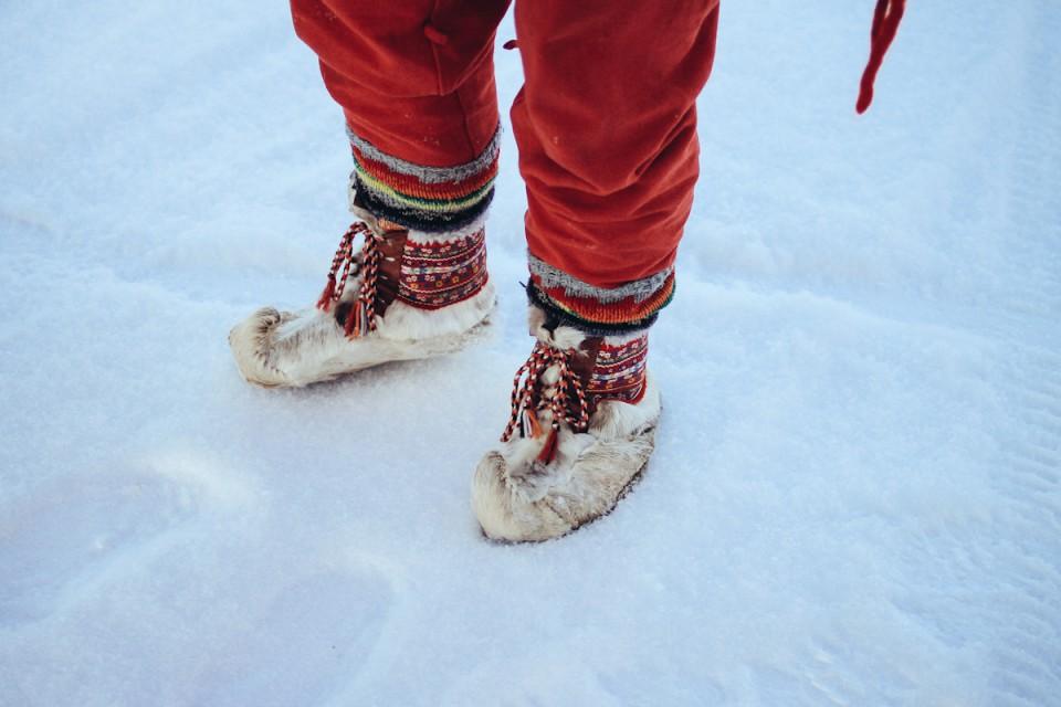 Lappland Weihnachtself Levi Finnland
