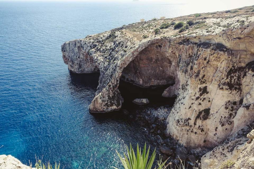 Smaracuja blaue grotte malta