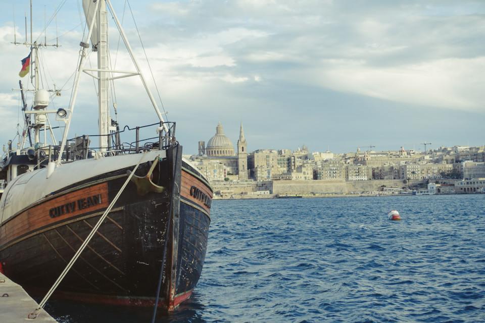 Smaracuja Kurztrip Malta Valetta Skyline