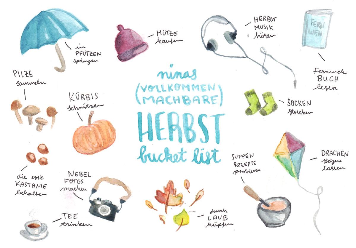 Ninas vollkommen machbare Herbst Bucket List – Smaracuja