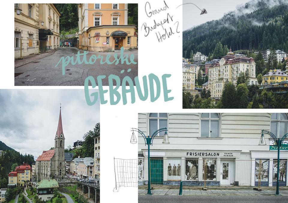 Reise nach Bad Gastein im Salzburger Land Architektur