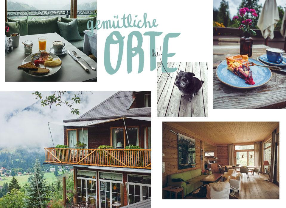 Hotels und Cafés in Bad Gastein wie das Miramonte, haus Hirt oder Regina
