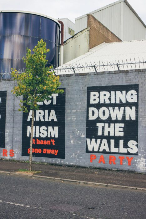 Belfast Black Cab Mural Peace Wall