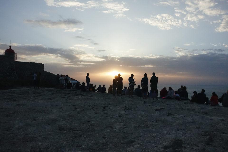 Algarve Ende der Welt Punta Sagres Sonnenuntergang