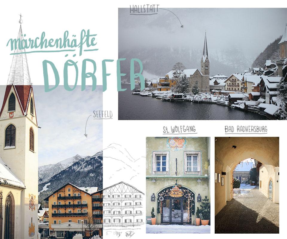 WInter in Österreich Seefeld Hallstatt Wolfgangsee