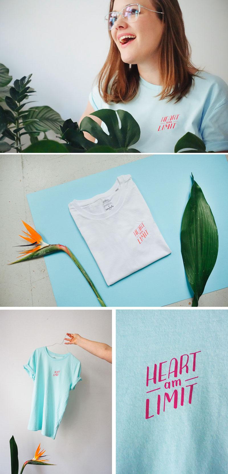 HEART AM LIMIT Yogawear T-Shirt von Asananas Yoga Club und Smaracuja
