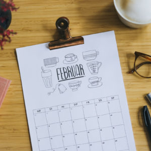 Tschüss 2019, Hallo 2020! – Smaracuja Doodle Kalender zum Download