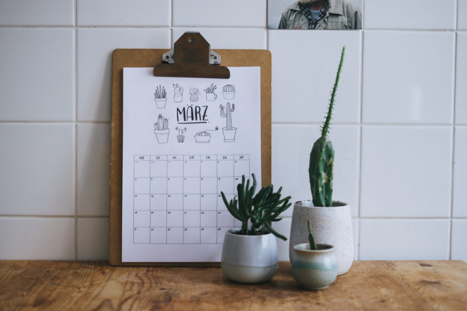 Kalender 2020 Freebie Download Printable