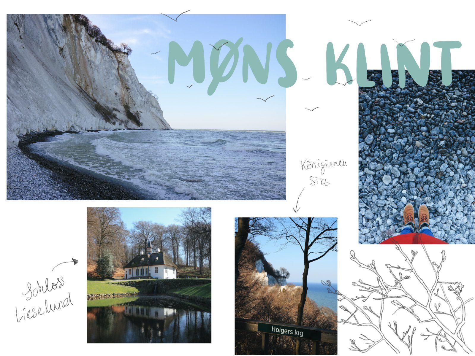 Dänemark Seeland Mons Klint Kreidefelsen Liselund