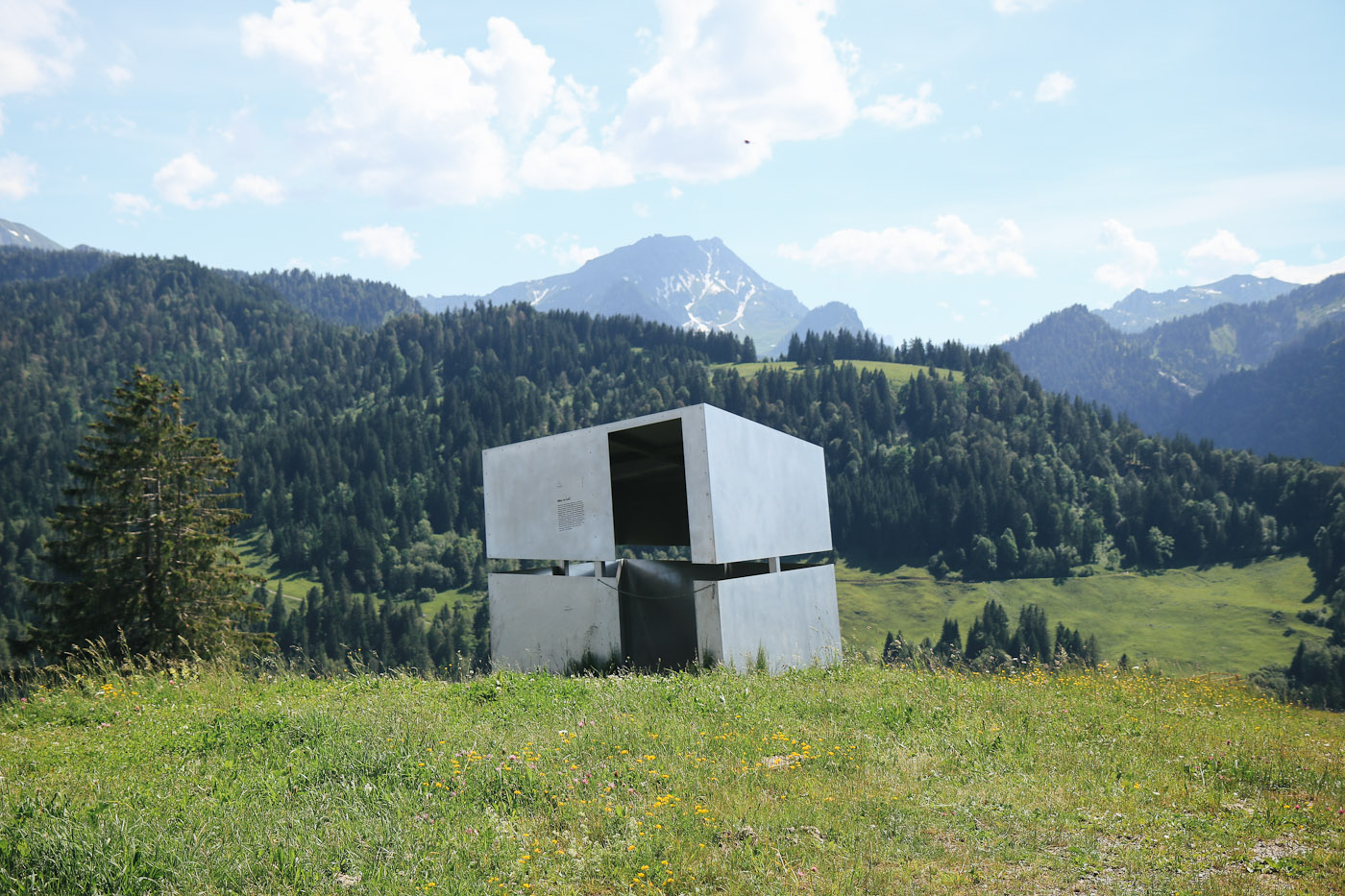 Georunde Rindberg Baukunst Installation Sibratsgfäll Rundweg Wanderung