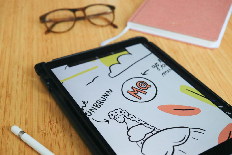ipad illustration lenticular design