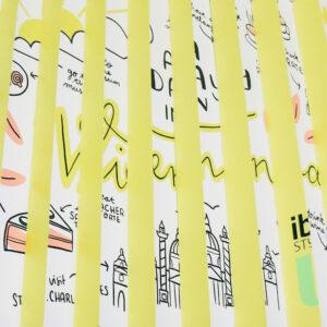 I draw and travel – Meine Kunstinstallation im Ibis Styles in Wien