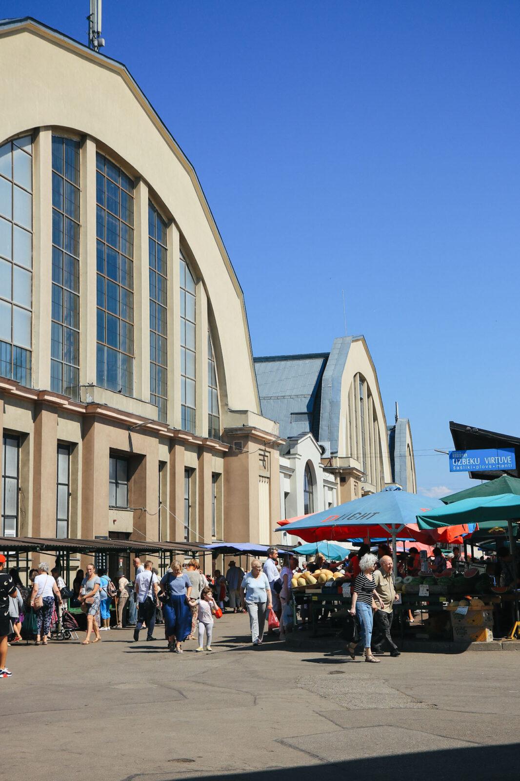 Riga Markt Wochenmarkt Städtetrip