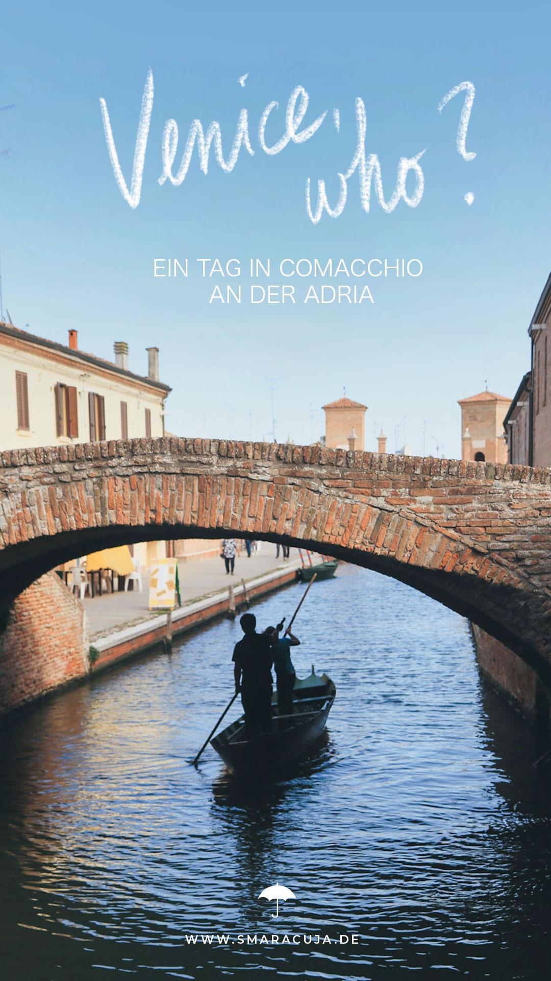 Comacchio Podelta Adriaküste Das kleine Venedig Emilia Romagna Italien