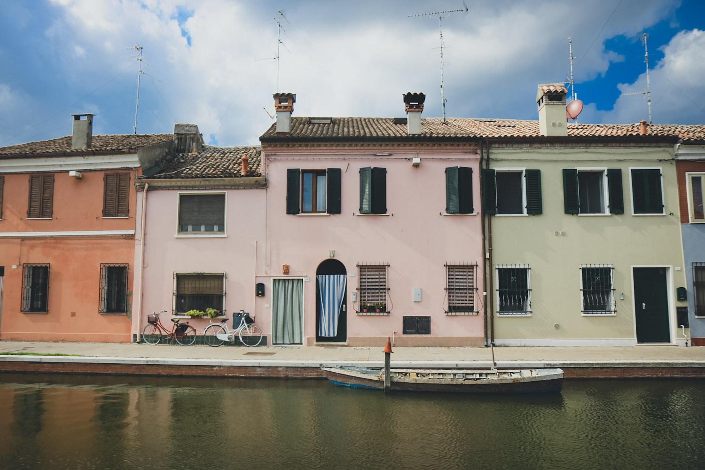 Comacchio Podelta Emilia Romagna Italien