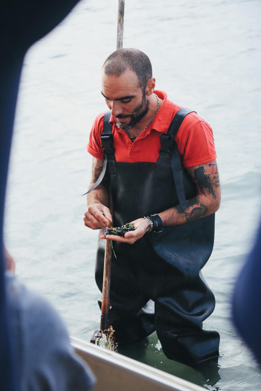 Muschel fischen Podelta Italien Emilia Romagna 2