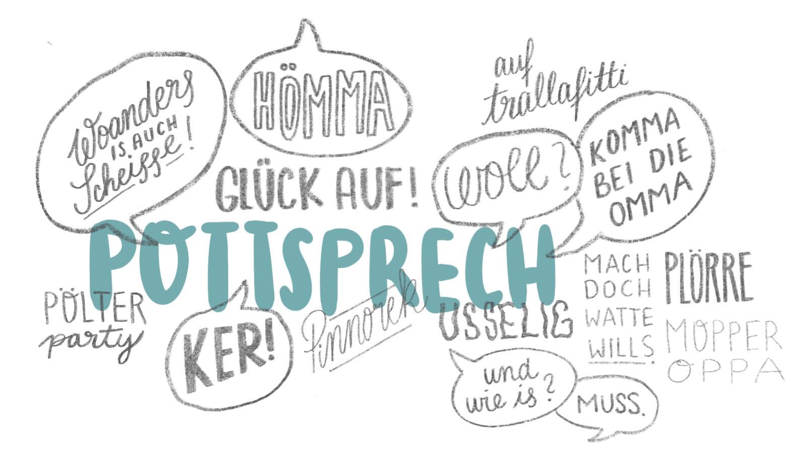 Pottsprech Sprache im Ruhrgebeit Woll hömma ker
