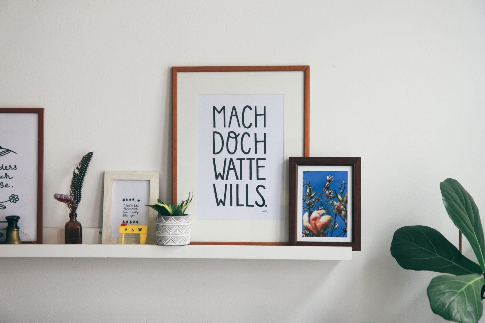 Ruhrgebiet Spruch Interior Lettering Shop