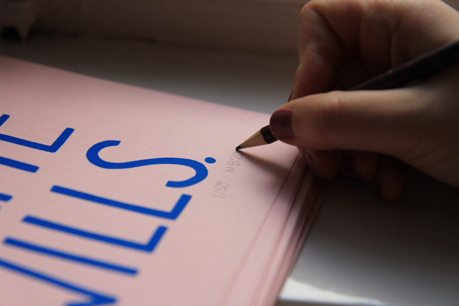 Mach doch watte wills lettering special edition art print kunstdruck poster interior signiert ruhrpott