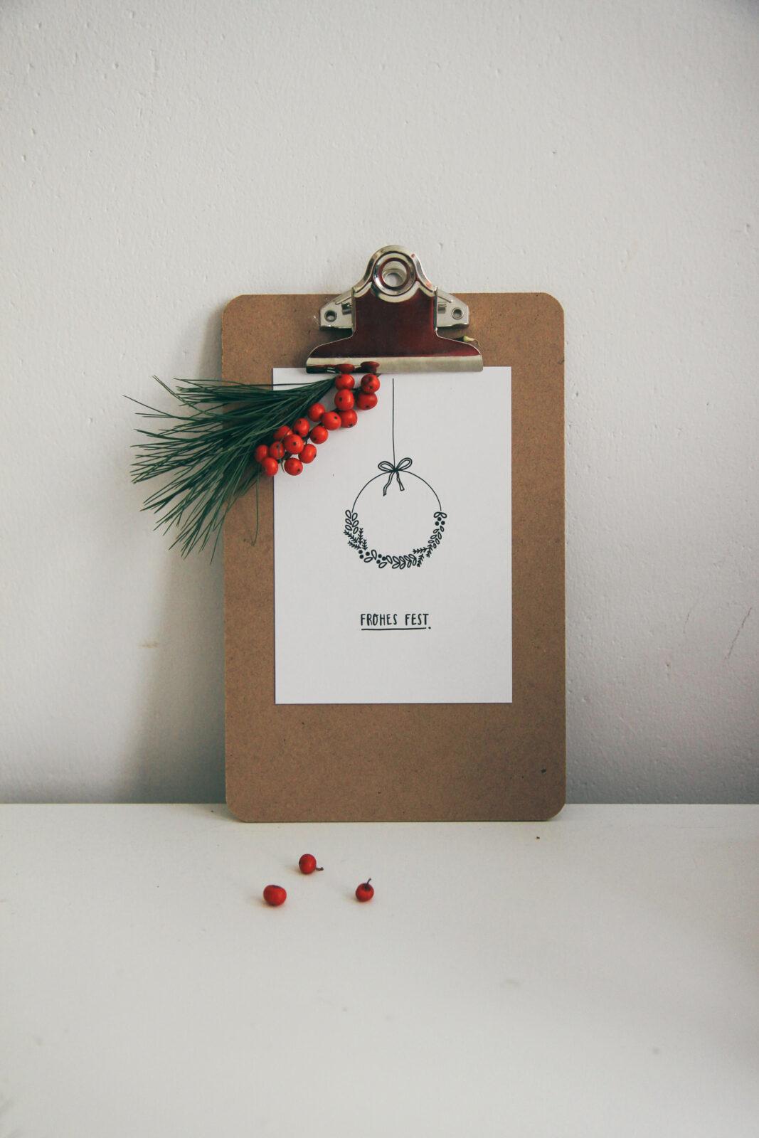 Weihnachtskarte frohes fest